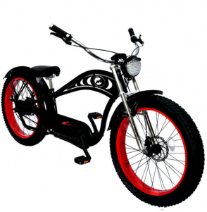 FAT TIRE ELECTRIC BIKE BEACH CRUISER CHOPPER STYLE CYCLONE DELUXE CRUISER C