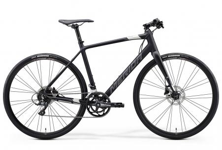 Merida Speeder 100 Matt Black/glossy Black/silver M-l 54c