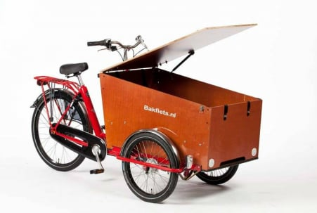 Bakfiets.nl Cargo Trike Classic Wide 8v Rood