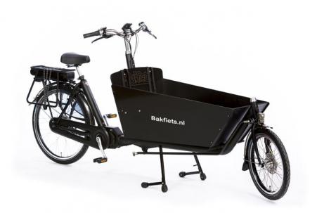 Bakfiets.nl Classic Long Steps N8 Zwart