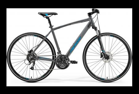 Merida Crossway 40 Dark Silver/blue L 55cm