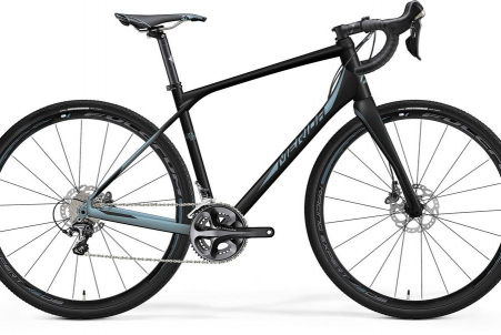Merida Silex 700 Matt Metallic Black/lite Blue S 47cm