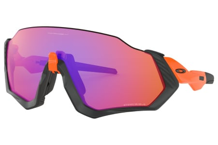 Oakley Flight Jacket Matte Black/orange W/prizm Trail