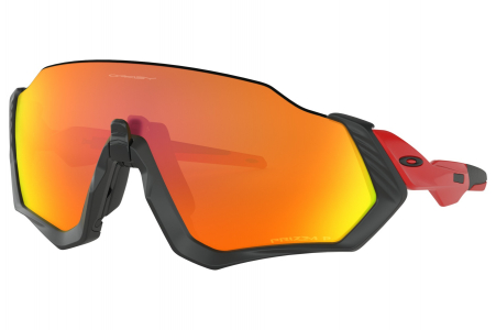 Oakley Flight Jacket Matte Black/redline W/ Prizm Rbypol
