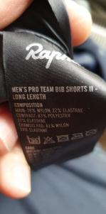 Cuissard Rapha  pro team bib shorts 2