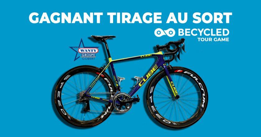 Becycled Tour Game: gagnant du tirage au sort - concours Tour de France