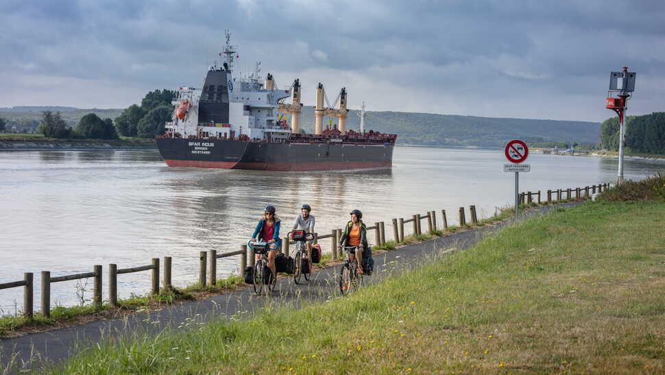 Quelque part le long des rives de la Seine – La Seine à Vélo