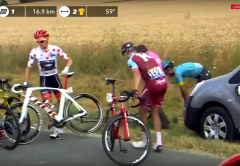 Toms Skujiņš Trek Madone spinning wheel Tour de France