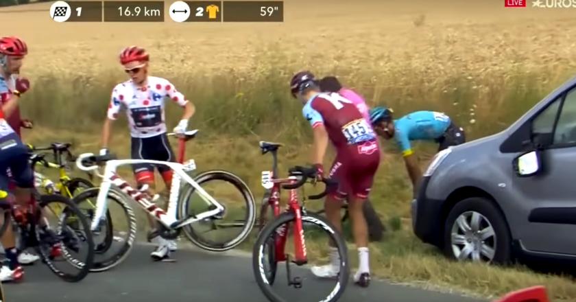 Toms Skujiņš Trek Madone spinning wheel Tour de France