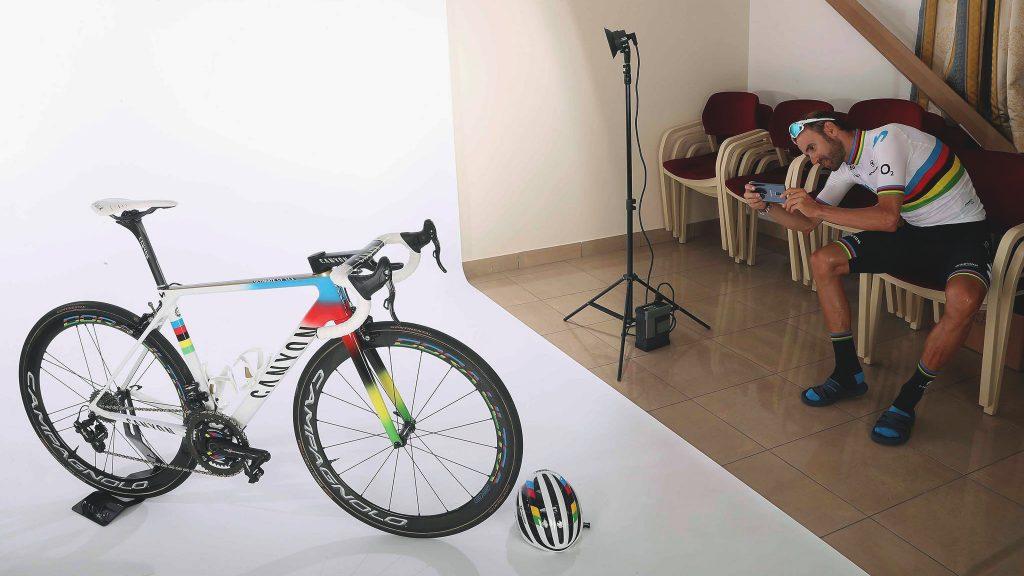 nieuwe canyon ultimate racefiets wereldkampioen alejandro valverde