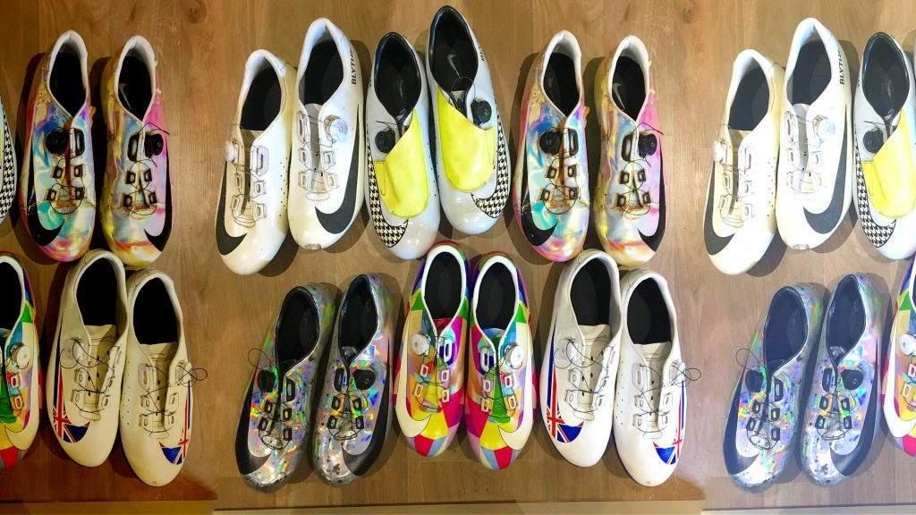 Nike fietsschoenen Adam Blythe